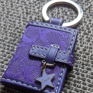 Coach Keychain Photo Holder Mini Book Purple